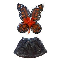Disfraz De Mariposa Monarca Alas Y Tutu Para Niña O Mujer