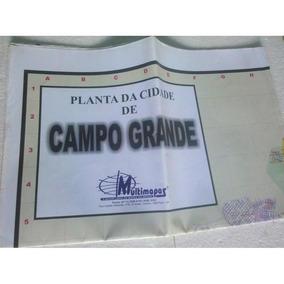 Mapa Planta Da Cidade De Campo Grande - Ms