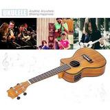 24 Cutaway Ukelele Hawaii Guitarra Con Ecualizador Led