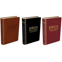 Bíblia De Estudo King James Atualizada Preta(vinho E Marrom)