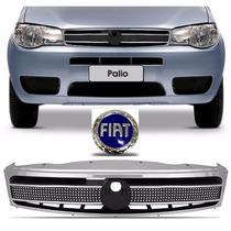 Grade Radiador Palio Sapao Palio G3 Com Emblema Azul