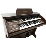 Órgão Eletrônico Tokai Tk-100 Cor Wengue C/ Banqueta