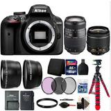 Cámara Nikon D3400 Dslr Con 2 Lentes 18-55 Y 70-300mm + 15ac