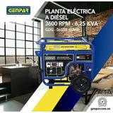 Planta Eléctrica A Diesel De 6,5 Kva Genpar