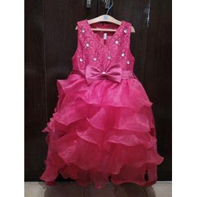 Vestido De Fiesta Princesa Fuxia