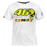 Camiseta The Doctor Valentino 46 Branca Moto Vr46