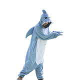 Traje De Cosplay Wotogold Animal Nueva Tiburón Unisex Pijam