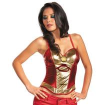 Disfraz Talla Mediana Iron Man Top Blusa Para Mujer Dama