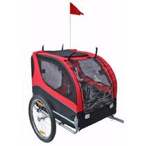 Carro Para Perro Mdog Mk0065a Comfy Pet Bike Trailer - Red/b