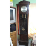 Reloj A Pendulo Y Pesas Maquina Alemana De Mas De 100 Años