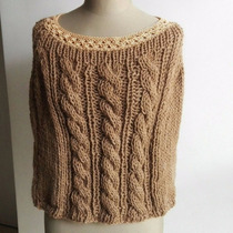 Sweater Poncho Tejido Lana - Invierno 2017 Diseño Exclusivo