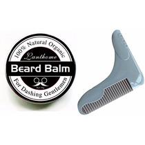 Balsamo Y Peine Para Barba Bigote Aceite Argan Coco Almendra