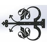 Aplique Rustico Dobradiça Para Portas, Portões E Armários