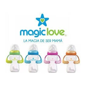 Tetero 8oz Magic Love Con Asas