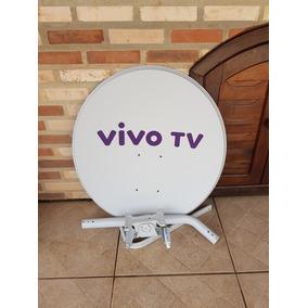 Antena Ku Sky / Vivo Tv 60cm + Kit Fixação (sem Lnb E Cabo)