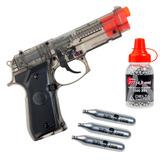 Pistola Co2 Stinger 92 4.5 Acero 1500 Balines 3 Garrafas