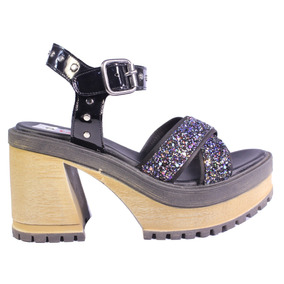 Sandalias Mujer Plataforma Glitter Verano 2018 Tops Zapatos