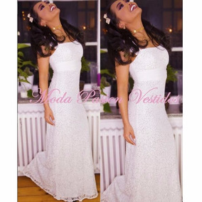 Vestido Novia Encaje Moderno Y Sencillo Espalda Moda Pasión