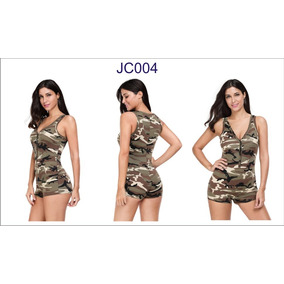 Jumper Short Palazzo Militar Camuflaje Sin Mangas Jc004