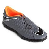 b7bdb5725d Chuteira Society Nike Phantomx 3 Club Tf Masculino - Cinza l