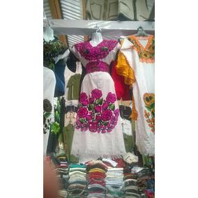 Bata/bluson/vestido/ropa De Manta Bordada Típica De Chiapas