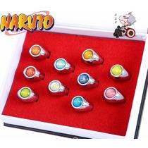 Anéis Akatsuki Naruto Anéis Luxo Caixa Com 10 Pronta Entrega
