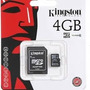 Memoria Micro Sd 4gb Clase 10 Kingston Full Hd