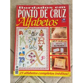 Revista Bordados Em Ponto De Cruz 25 Alfabetos Completos