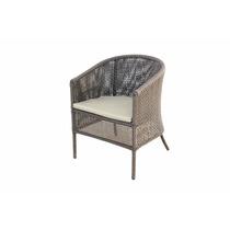 Cadeira Poltrona Em Fibra Sintetica E Aluminio P/ Decoração