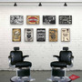 Placa Decorativa Barber Shop Barbearia Retro Vintage Skull