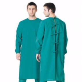 Bata Para Paciente De Tela Color Verde