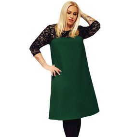Vestido de noche color verde