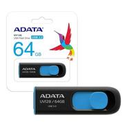 Pendrive 64gb Usb 3.2 Gen1 Adata Uv128 Preto E Azul