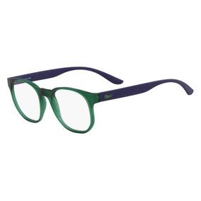 7cd788bffbe36 Óculos Lacoste L3908 315 Verde Translúcido Azul Lente Tam