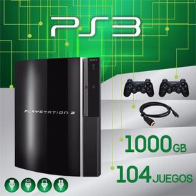 Playstation 3 Ps3 1000gb 104 Juegos Hdmi 2 Joystick Online