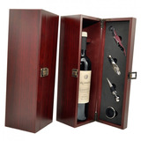 Set Caja Para Vino Madera Estuche Regalo Empresarial