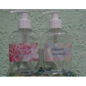 10 Frascos 250 Ml Sabonete Liquido Artesanal + 10 Etiquetas