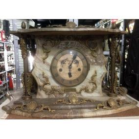 Lindíssimo Relógio Antigo De Mármore