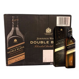 Caixa 12 Whisky Johnnie Walker Double Black 1 Litro Original