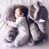 Cojín Almohada Para Dormir De Bebé Elefante Suave Gris