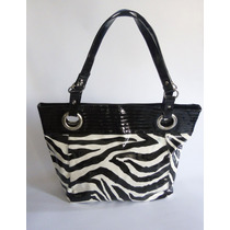 Bolso Cartera Marca George Color Negro/blanco. Nueva