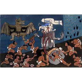 Lienzo Tela Ilustración 3 Popol Vuh Diego Rivera 1931 90x120