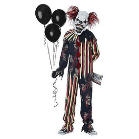 Disfraz Niño Payaso Asesino Traje Brilla Oscuridad Halloween