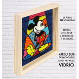 Mickey Y Minnie Romero Britto Cuadro Box X Unidad Niceto