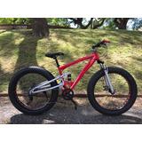 Bicicleta Fat Bike Rod.26 - 7 Cambios - Doble Suspensión
