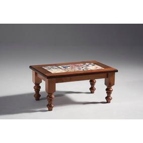 Mesa De Centro Madeira Maciça Rústica Aparador Cerâmica