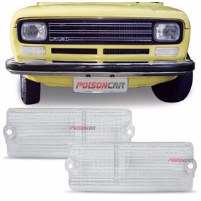 Par Lente Lanterna Dianteira Fiat 147 1977 A 1984 Cristal