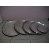Bandejas De Aluminio Para Pizzas 15 Pzas