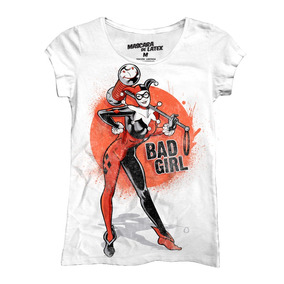 Playera Batman Bad Girl Mujer De Mascara De Latex