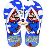 Sandalia Super Mario Bros Infantil Masculina Personalizado